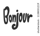 bonjour. sticker for social... | Shutterstock .eps vector #1138031219