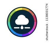 cloud network   app icon | Shutterstock .eps vector #1138031774