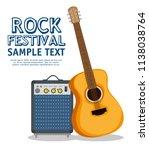 guitar acoustic instrument label   Shutterstock .eps vector #1138038764