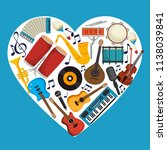 set musical instruments icons | Shutterstock .eps vector #1138039841