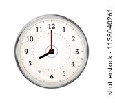 realistic clock face showing 08 ... | Shutterstock .eps vector #1138040261