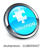 solution  puzzle icon  isolated ... | Shutterstock . vector #1138054427