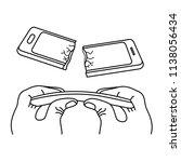 crash test smartphone. ... | Shutterstock .eps vector #1138056434