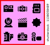 simple icon set of camera... | Shutterstock .eps vector #1138058489