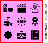 simple icon set of camera... | Shutterstock .eps vector #1138058765