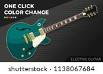 electric guitar. isolated and... | Shutterstock .eps vector #1138067684