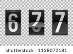 mechanical scoreboard vector... | Shutterstock .eps vector #1138072181