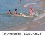 blagoveshchenskaya  russia  ... | Shutterstock . vector #1138072625