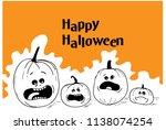 happy halloween background   Shutterstock .eps vector #1138074254