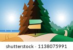 road and beach or mountains... | Shutterstock .eps vector #1138075991