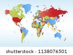 color world map vector | Shutterstock .eps vector #1138076501