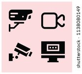 filled technology icon set such ... | Shutterstock .eps vector #1138080149