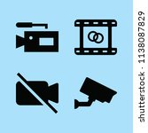 filled technology icon set such ... | Shutterstock .eps vector #1138087829