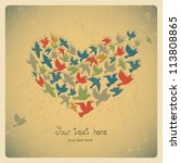 the heart of the birds. can be... | Shutterstock .eps vector #113808865