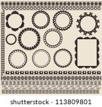vintage patterns designs and... | Shutterstock .eps vector #113809801