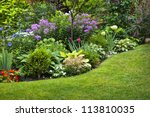 Lush Landscaped Garden With...