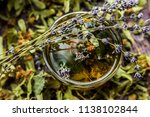 cup of tea lavender provence... | Shutterstock . vector #1138102844