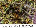 cup of tea lavender provence... | Shutterstock . vector #1138102847