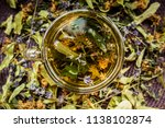 cup of tea lavender provence... | Shutterstock . vector #1138102874