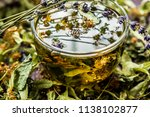 cup of tea lavender provence... | Shutterstock . vector #1138102877