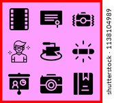 simple icon set of camera... | Shutterstock .eps vector #1138104989