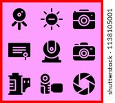 simple icon set of camera... | Shutterstock .eps vector #1138105001