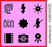 simple icon set of camera... | Shutterstock .eps vector #1138105235