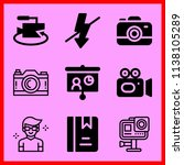 simple icon set of camera... | Shutterstock .eps vector #1138105289