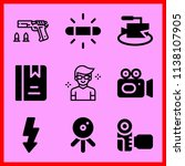simple icon set of camera... | Shutterstock .eps vector #1138107905
