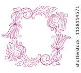 floral frame. vector...   Shutterstock .eps vector #1138114571