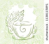 green tea. vector illustration   Shutterstock .eps vector #1138115891