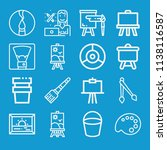 paint related set of 16 icons... | Shutterstock . vector #1138116587