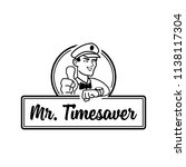 mr. time saver mascot character ... | Shutterstock .eps vector #1138117304