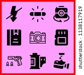 simple icon set of camera... | Shutterstock .eps vector #1138117919
