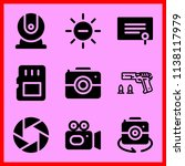 simple icon set of camera... | Shutterstock .eps vector #1138117979