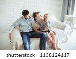 portrait of happy family...   Shutterstock . vector #1138124117
