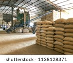 Stock Of Coffee In A Warehouse.