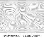 warped lines abstract.wavy... | Shutterstock . vector #1138129094