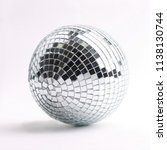 disco ball isolated on a white... | Shutterstock . vector #1138130744