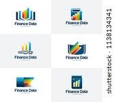 set of finance data logo... | Shutterstock .eps vector #1138134341