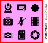 simple icon set of camera... | Shutterstock .eps vector #1138148261