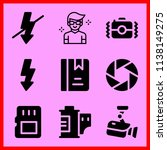 simple icon set of camera... | Shutterstock .eps vector #1138149275