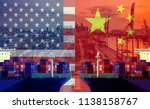 concept image of  usa china... | Shutterstock . vector #1138158767