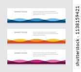 abstract banner design vector... | Shutterstock .eps vector #1138159421