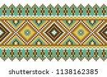 seamless vector border. folk... | Shutterstock .eps vector #1138162385