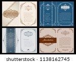 set of decorative frame in... | Shutterstock .eps vector #1138162745