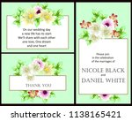 invitation greeting card with... | Shutterstock . vector #1138165421