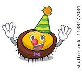 clown sea urchin mascot cartoon | Shutterstock .eps vector #1138177034