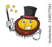 magician sea urchin mascot... | Shutterstock .eps vector #1138177061