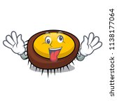 crazy sea urchin mascot cartoon | Shutterstock .eps vector #1138177064